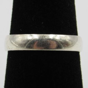 Vintage Size 6.75 Sterling Silver Rustic Wide Ring